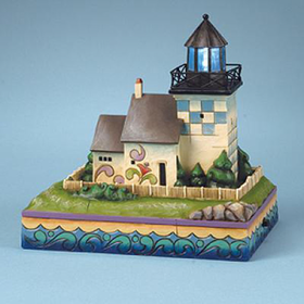 HEARTWOOD CREEK BY JIM SHORE BRISTOL FERRY LIGHTHOUSE