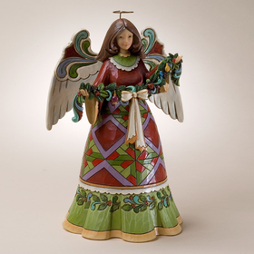Heartwood Creek by Jim Shore Christmas Angel Holding Garland