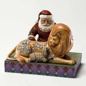 Heartwood Creek by Jim Shore Classic Santa with Lion and Lamb