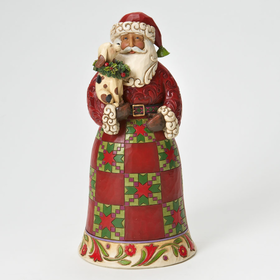 Heartwood Creek by Jim Shore Classic Santa with Puppy