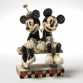 Heartwood Creek by Jim Shore Disney Traditions Black and White Mickey and Minnie