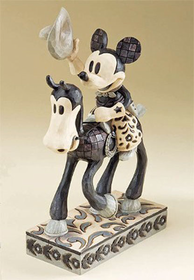 Heartwood Creek By Jim Shore Disney Traditions Black and White Mickey Mouse Cowboy