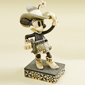 Heartwood Creek By Jim Shore Disney Traditions Black and White Minnie Cowgirl