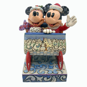 HEARTWOOD CREEK BY JIM SHORE DISNEY TRADITIONS MICKEY AND MINNIE IN SLEIGH