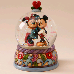 Heartwood Creek by Jim Shore Disney Traditions Mickey and Minnie Water Globe