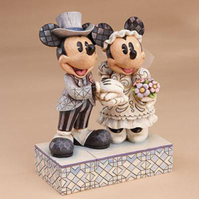 Heartwood Creek By Jim Shore Disney Traditions Mickey and Minnie Wedding