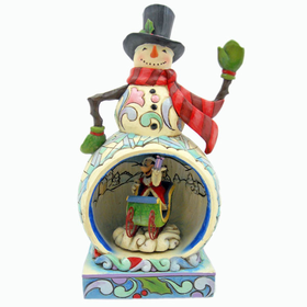 HEARTWOOD CREEK BY JIM SHORE DISNEY TRADITIONS MICKEY MOUSE LIGHTED SNOWMAN MUSICAL