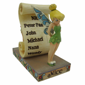 HEARTWOOD CREEK BY JIM SHORE DISNEY TRADITIONS NAUGHTY OR NICE TINKERBELL FIGURINE
