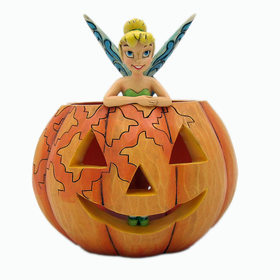 HEARTWOOD CREEK BY JIM SHORE DISNEY TRADITIONS PUMPKIN WITH TINKERBELL