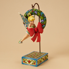 Heartwood Creek by  Jim Shore Disney Traditions Tink with Wreath