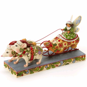 Heartwood Creek by Jim Shore Fairy in  Shoe Sleigh