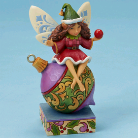 Heartwood Creek by Jim Shore Fairy Sitting on Ornament
