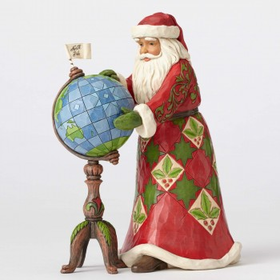 Heartwood Creek by Jim Shore Joy is in the Journey - Santa with Globe