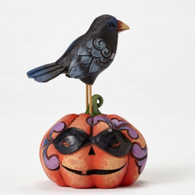 Heartwood Creek by Jim Shore Mini Crow on Jack-o-lantern Figurine