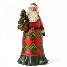 Heartwood Creek by Jim Shore Rooted in Tradition - Santa with Evergreen