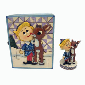 HEARTWOOD CREEK BY JIM SHORE RUDOLPH THE RED-NOSED REINDEER AND HERMEY ORNAMENT WITH KEEPSAKE BOX