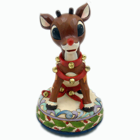 HEARTWOOD CREEK BY JIM SHORE RUDOLPH THE RED-NOSED REINDEER MUSICAL FIGURINE