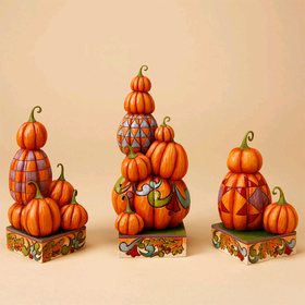 Heartwood Creek by Jim Shore Set of 3 Stacked Pumpkins
