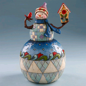 Heartwood Creek by Jim Shore Snowman with Birdhouse
