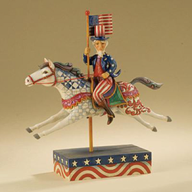 Heartwood Creek By Jim Shore Uncle Sam Riding Horse