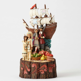 Heartwood Creek by Jim Shore We Are Blessed - Pilgrims by the Mayflower Figurine