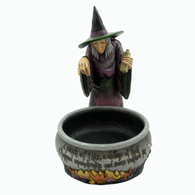 HEARTWOOD CREEK BY JIM SHORE WITCH WITH CAULDRON