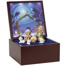 �Heirloom Nativity Set Deluxe Music Box�, LED Stars