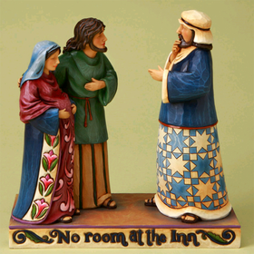 Heratwood Creek by Jim Shore Mary and Joseph No Room At the Inn Figurine