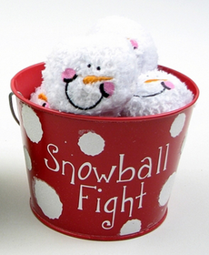 Indoor Snowball Fight Red Tin - SOLD OUT