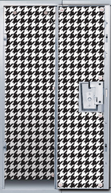 Locker Lookz Black and White Houndstooth Wallpaper