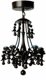 Locker Lookz Black Chandelier~DISCONTINUED