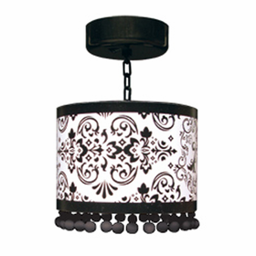 Locker Lookz Black/White Scroll Lamp