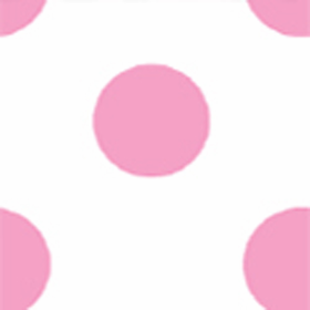 Locker Lookz Pink Polka Dots on White Background Wallpaper