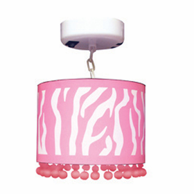 Locker Lookz Pink Zebra Lamp