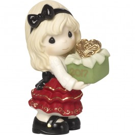 �May The Gift Of Love Be Yours This Season� Dated 2017, Bisque Porcelain Figurine