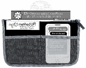 Mesh Purse Organizer Orange