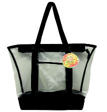 Mesh Summer Tote Bag Black