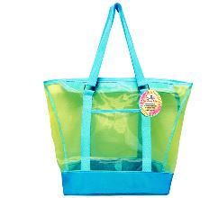Mesh Summer Tote Bag Blue