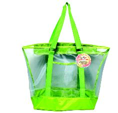 Mesh Summer Tote Bag Lime