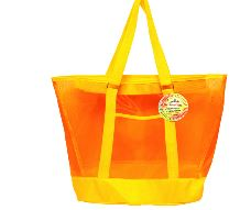 Mesh Summer Tote Bag Yellow