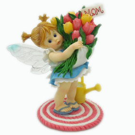 My Little Kitchen Fairies Bouquet of Tulips Mother's Day Fairie