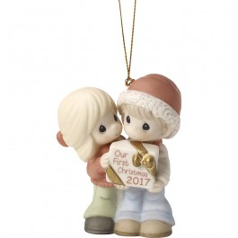 �Our First Christmas Together 2017� Bisque Porcelain Ornament