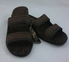 Pali Hawaiian Two Strap Brown Sandals Size 5