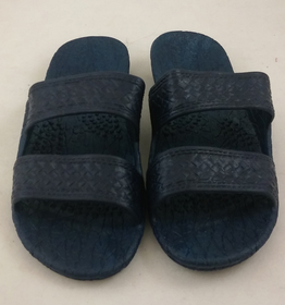 Pali Hawaiian Two Strap Navy Kid's Sandals Size 5