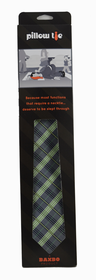 Pillow Tie Green Navy Plaid