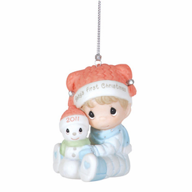 Precious Moments 2011 Baby Boy First Christmas Ornament