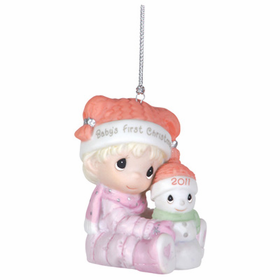Precious Moments 2011 Baby Girl First Christmas Ornament