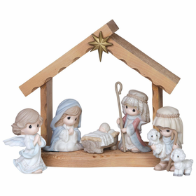Precious Moments 7-Piece Mini Nativity Set