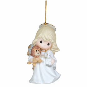 Precious Moments Angel Holding Lion and Lamb Ornament