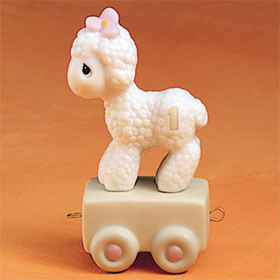 Precious Moments Birthday Train Age 01 Lamb: Happy Birthday Little Lamb